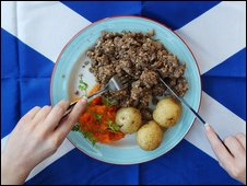 Haggis, neeps and tatties