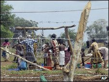 File photo of displaced Tamil civilians in Vavuniya, Sri Lanka, June 2009
