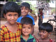 Children in the village of Palliyathidal