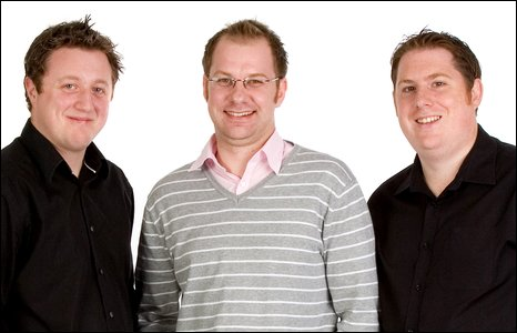Football Heaven presenters (L-R) Andy Giddings, Paul Walker and Seth Bennett