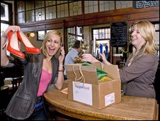 Publicity photo: Get your parcel from the pub