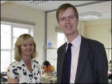Stephen Timms MP with director of Fashion Enter Jenny Holloway