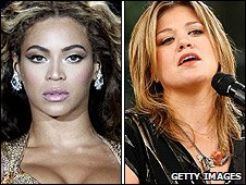 Beyonce and Kelly Clarkson