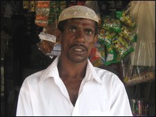 Pitchathambi Ishabdeen, local shopkeeper who lost four members of his family in the attack