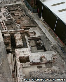 Leetham's Flour Mill and Bellerby's Sawmill under excavation