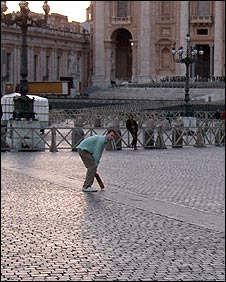 Showing the Romans how to play cricket in the Eternal City