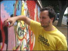 Graffiti artist Paolo