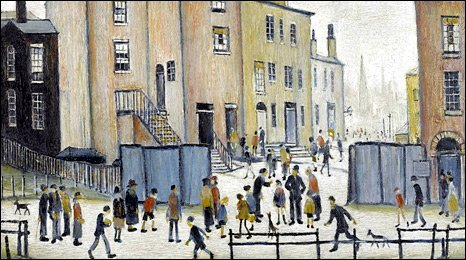 Old Houses by Lowry