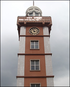 Clocktower in Dharan built with Gurkha money