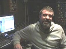 Neil Bassett in his recording studio