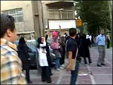 Purported opposition protest on Vali Asr street, Tehran (3 July 2009)