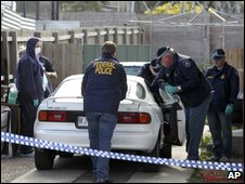 Australian police search car in Melbourne suburb