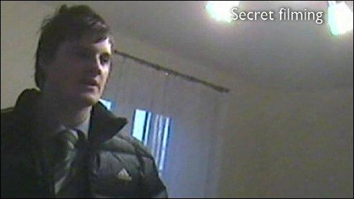 Estate agent during secret filming