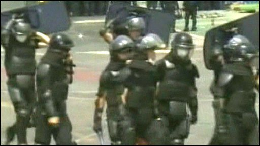 Police commandos storm S Korean factory