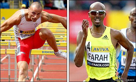 Andy Turner and Mo Farah