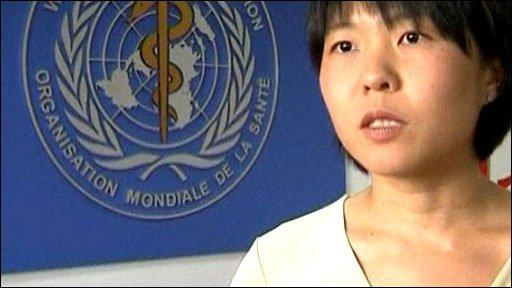 Vivian Tan froVivian Tan from the World Health Organization in Beijing