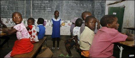 Zimbabwe schoolchildren, file image
