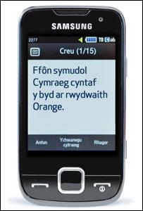 Ffonau symudol Cymraeg