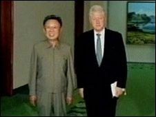 Kim Jong-il and Bill Clinton