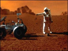 Artist's impression of man on Mars