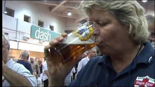 Drinking ale