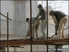 Construction workers in Algeria