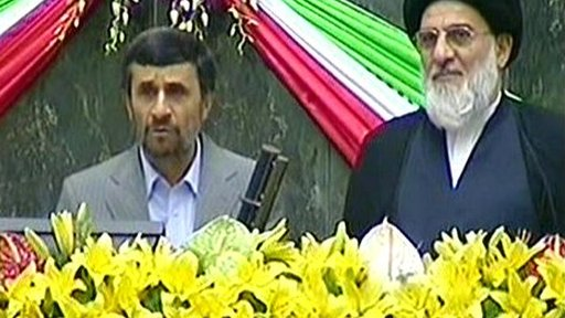 President Mahmoud Ahmadinejad is sworn in