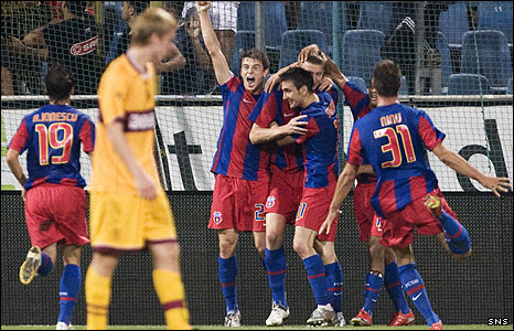 Steaua Bucharest hold a 3-0 lead over Motherwell