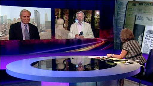 Newsnight discussion in studio