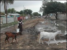 A road in Malakal on the border between North and South Sudan