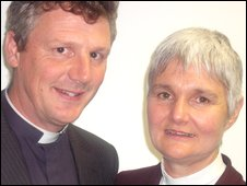 Canon Mark Rylands and his wife Amanda