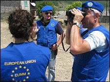 EU monitors in Georgia