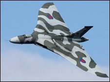 The Vulcan in flight