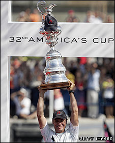 Alinghi wins the America's Cup in 2007