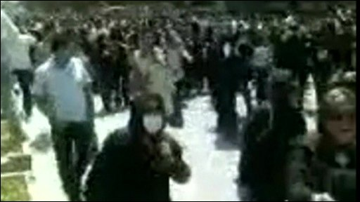 Iranian's protesting in Tehran