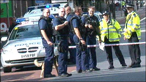Police near Waterloo station