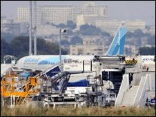 Eight people were injured during the evacuation of the Airbus A320
