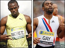 Usain Bolt and Tyson Gay