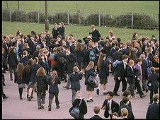 Pupils in playground