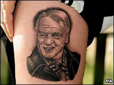 George Wright's Sir Bobby Robson tattoo