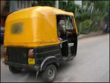 Auto rickshaw in Calcutta