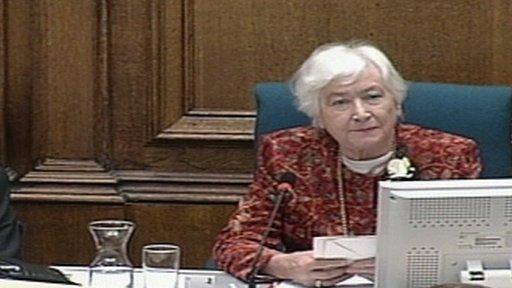 Winnie Ewing reconvening Parliament