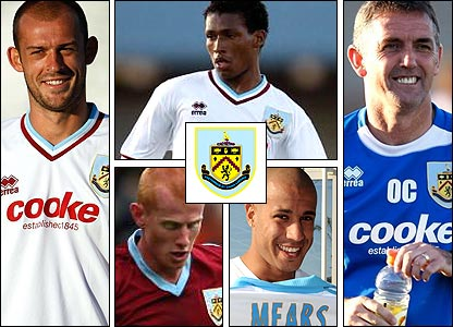 Clockwise from left: Steven Fletcher; Fernando Guerrero; manager Owen Coyle; Tyrone Mears; Richard Eckersley