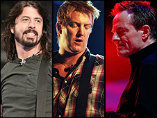 Dave Grohl, Josh Homme and John Paul Jones