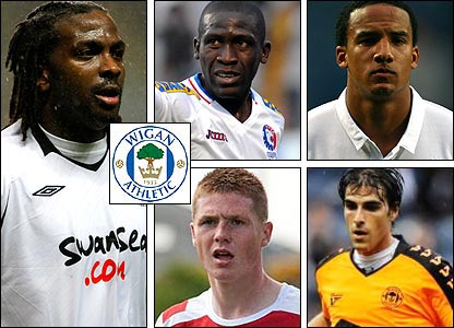 Clockwise from left: Jason Scotland; Hendry Thomas; Scott Sinclair; Jordi Gomez; James Hamilton