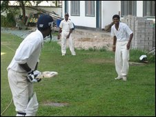 A local game at the Moors cricket club in Colombo