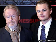 Sir Ridley Scott and Leonardo DiCaprio