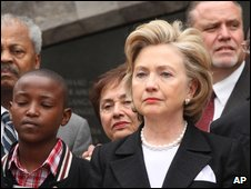 Hillary Clinton in Nairobi