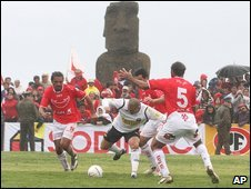 Football match on Easter Island, 5 Aug
