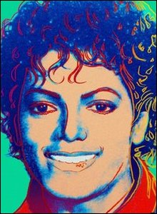 (Green) Michael Jackson 1984 - by Andy Warhol